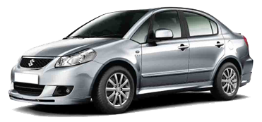 Suzuki DZire car with indian driver